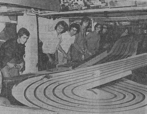 1 ière piste 6 voies de 36 mètres de Jean-Pierre Chesne en 1973 à Château-Gontier.