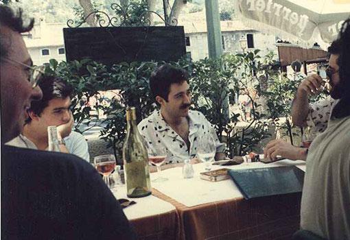 Trois des Espagnols : Josep Armengol, Antonio Ortega, Miguel Pascual-Laborda