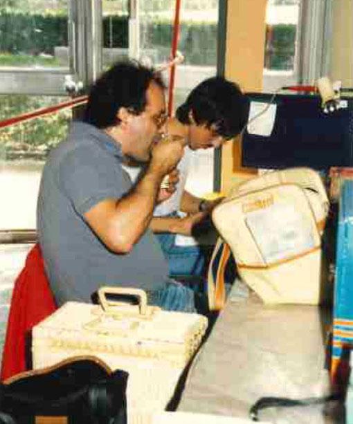 Frédéric Nivet  et Jean-Luc Peurière au Grand Prix de Bordeaux 1987