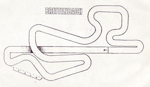 Dessin de la piste de slot de Munster chalet du Braeschberg Breitenbach