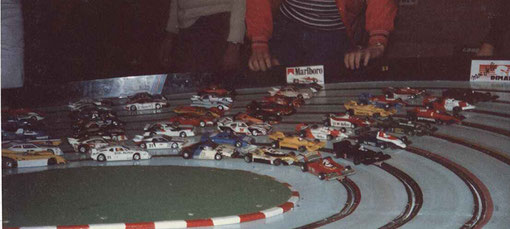 1981. Les autos du premier Grand Prix de Bordeaux de slot racing