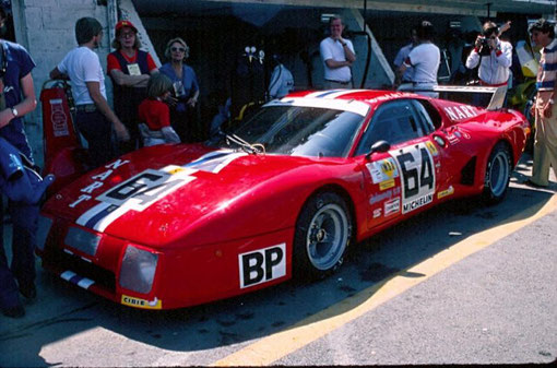 La vraie Ferrari BB 512 LM 1979 n° 64 qui a été choisie par Philippe Grenet