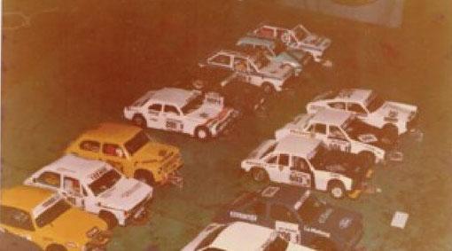 Peugeot 504, Fiat 600, Ford Escort. Plateau  tourisme Uruguayen.
