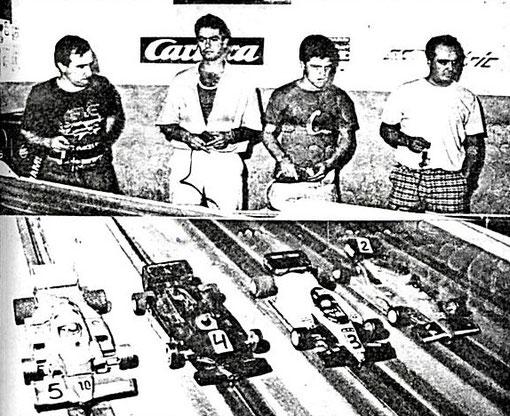 FORMULE 1 : Pietro Razzano, Marino San José, Michele Scarpato, Paolo Trigilio