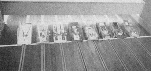 Slot cars au départ de la finale des worlds 1978 de Göteborg