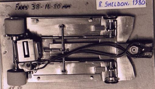 Châssis slot car de Russel Sheldon