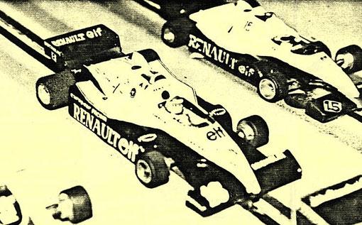 Formule 1 Renault de Eddie Cheevers au G P de Bron 1985. ( MiniRacing 8 )
