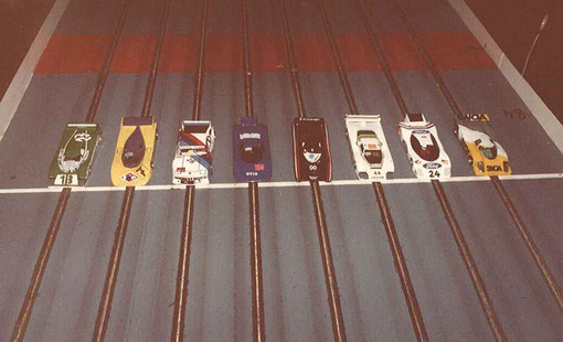 La grille de départ des 24 heures de Rouen 1986