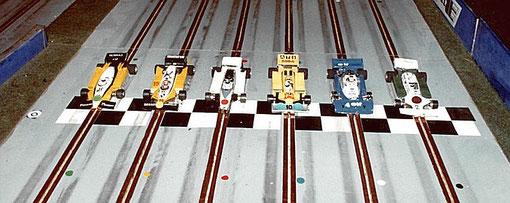 4 ième série F 1. Renault RE20 Denis Homatter, Renault RE30 Pierre Engels, Fittipaldi F8 Fred Warnant, ATS D4 Serge Vuillemin, Tyrrell P34 Didier Moret, Williams FW8 Bernard Brun