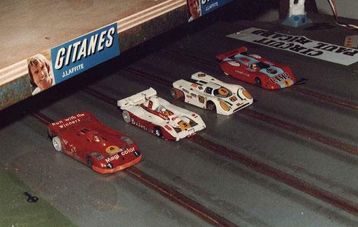 Série 2 Sport-Europe : Lola T 530 n° 1 Françoise Lapeyre, March 817 n° 6 Jean-Luc Puget, Porsche 917 n° 28 Jean-Pierre Antinoux, Lancia LC1 Chris Peix;
