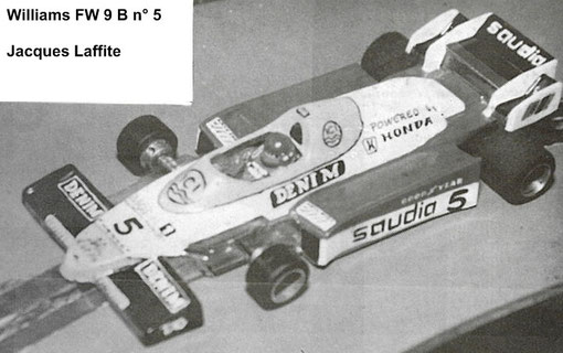 Slot car Formule 1 Williams FW9B de Pierre Engels