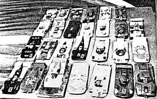 Parc fermé Sport-Europe Grand Prix d'Espagne 1986