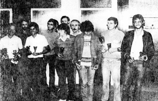 Remise des prix du Grand Prix de Bordeaux 1982.