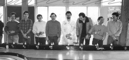Finale F 1: C. Peix, G. Caupène, T. Lambin, P. Duez, D. Dupuis, D. Moret, S. Béraha, D. Homatter.