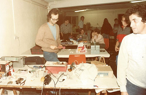 Rouen 1985 Stands de slot racing