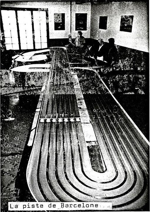 La piste de Barcelone du Grand Prix d'Espagne de slot racing 1985