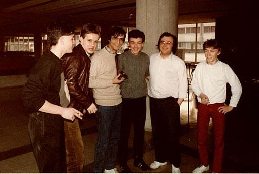 6 heures de Châtenay 1985 - Thierry Pigny - Olivier Demoget - Jean-Claude Malherbe ( vainqueur ) - Yvon Marthou ( vainqueur ) - Marc Joyeux (vainqueur ) - Pierre Bettancourt