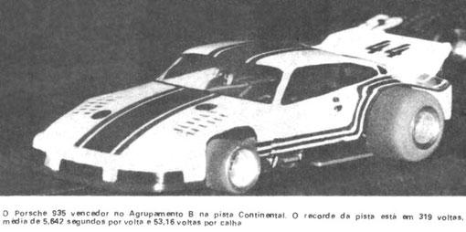 Porsche 935 de Santos Costa  vainqueur groupe B avec 319 tours