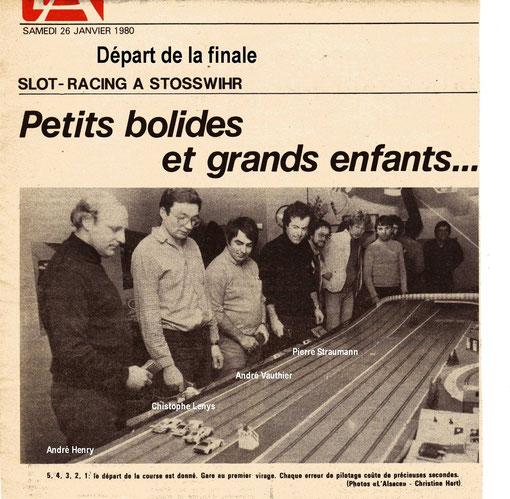 Dans le journal L'Alsace le club de Munster ses pilotes et la piste du Stosswihr-Ring