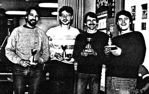 Francis Cathenis, Jean-Luc Orban, Henry Roufosse et Philippe Laudet