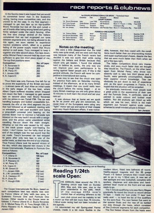 Slot 1979 Bron Coupe Inter Revue Auto Modeler Vol 1 n° 5 aoùt 1979 p 43
