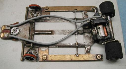 Châssis slot-car de Dennis Samson en 1985