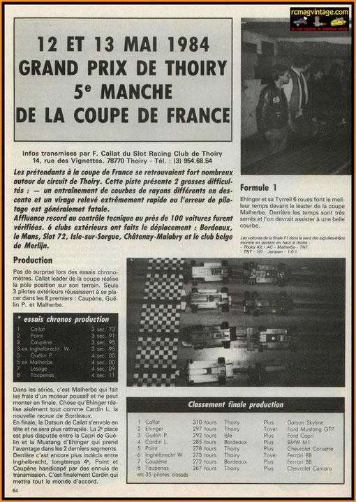 Article de François Callat dans Auto-RCM