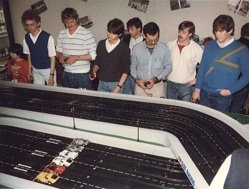 Pilotes belges et allemands au départ du Daytona  Continental 2000 à Anvers en 1985