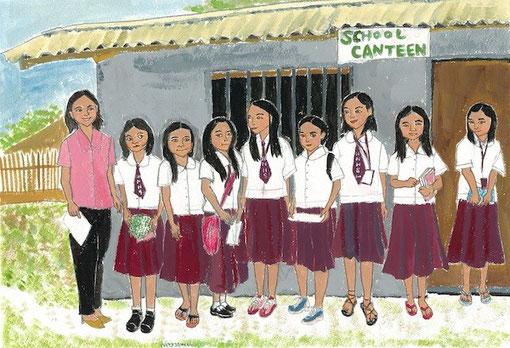 Hapid high school girls in Bimpal