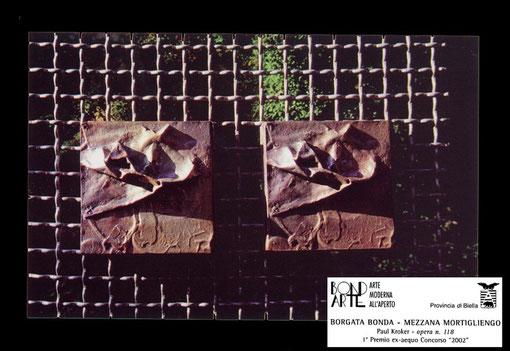 opera n. 118, bronzo su metallo, 30x20