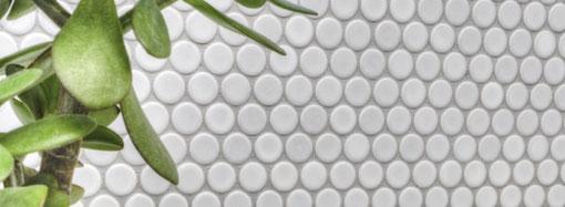 mosaico in ceramica rotondo