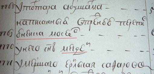 фрагмент переписи 1744гг