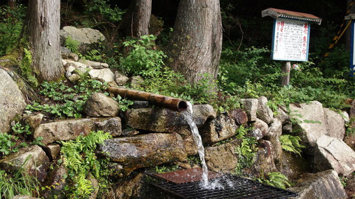 水質を示すデータもあり、安心して飲めそうです。花崗岩地帯の水ですからそれなりということでしょうか。