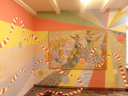 2 x 3 macht 4, raumfüllende Installation im Rahmen von STROKE Projects/ STROKE urban art fair, Praterinsel München, 2012