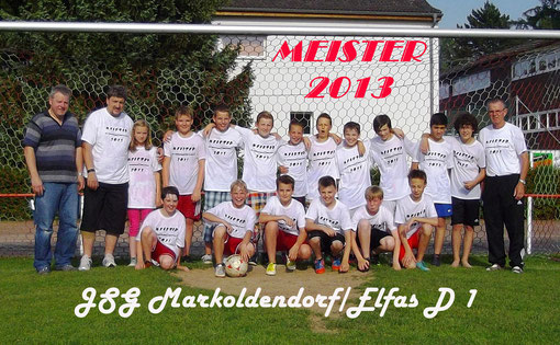 Das Foto zeigt die D 1 Meistermannschaft mit dem Sponsor Freddy Brackmann von Freddy's Gardinenservice