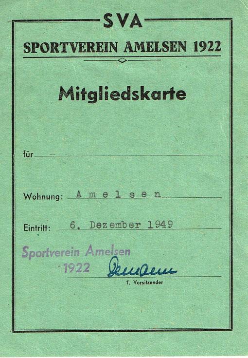..gabs noch Mitgliedskarten für SVA Vereinsmitglieder