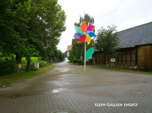 So soll es aussehen, das 3. Windrad in Amelsen. Standort Dorfplatz Amelsen