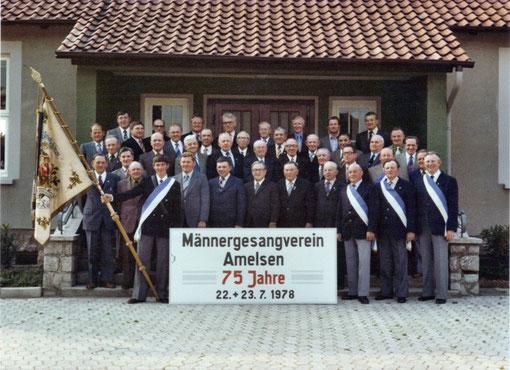 Männergesangverein Amelsen anl. des 75-jährigen Bestehens
