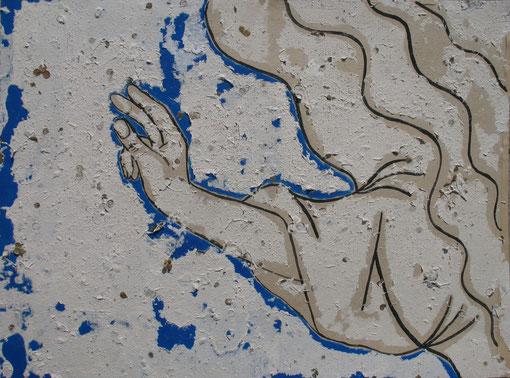 Die Hand Gottes (nach der Millstätter Handschrift, 1200). 2012 Heidi Esch