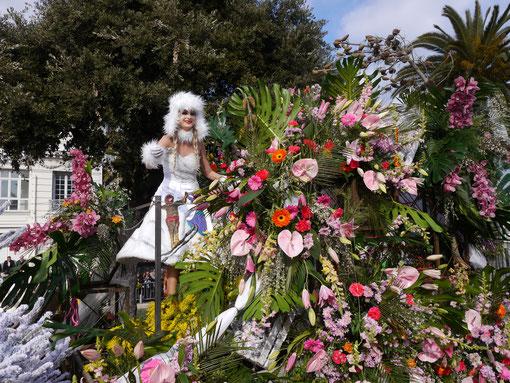 Städtereise Frankreich, Karneval in Nizza, Blumenkorso Frankreich Cote DÀzur