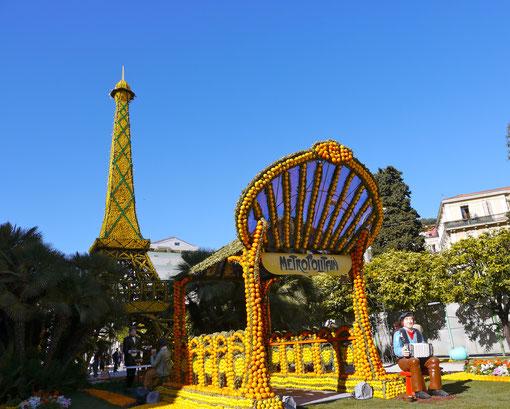 Menton, Zitronenfest Frankreich Cote d´ Azur Menton