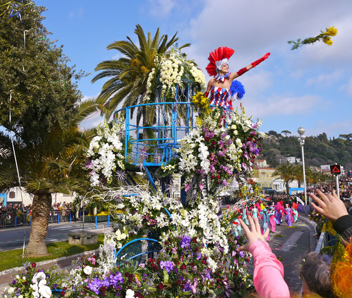 Städtereise Frankreich Karneval in Nizza , Blumenkorso Frankreich Cote DÀzur
