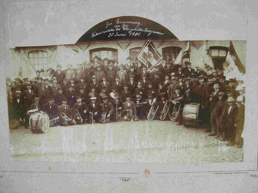 Zur Erinnerung an die Fahnenweihe des Ellingstedter Kriegervereins 30. Juni 1901