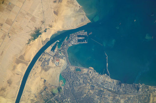 Port of Suez, now part of Egypt