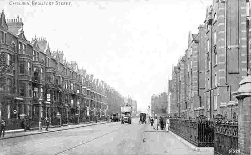 Beauford Street Chelsea -  early 1900s