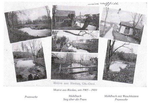Motive aus Riedau, um 1905 - 1910