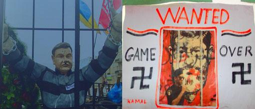 Das Swastika-Stigma für die geputschten Despoten