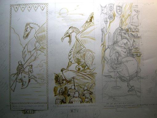 dragon-moyen-age-chevalier-encrage
