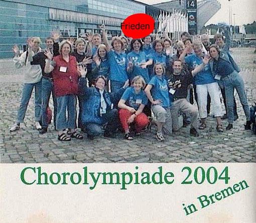 Chor Olympiade 2004 - Bremen -Leitung: Christine Burkhard (ganz rechts)