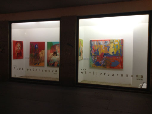 WINDOW DISPLAY GALLERY AtelierSaranova,      Dr. Karl Lueger Pl.4b, 1010 Vienna, Austria